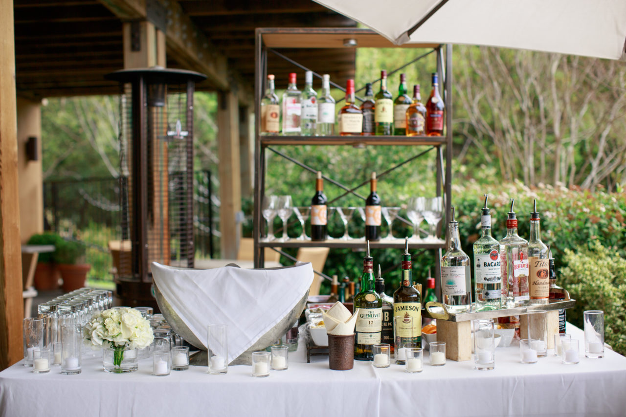 Auberge du Soleil wedding drinks