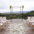 Jewish wedding on the terrace at Auberge du Soleil