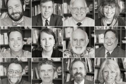 black and white portraits of NCSE staff