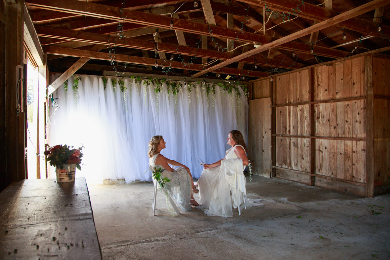 two brides in point reyes
