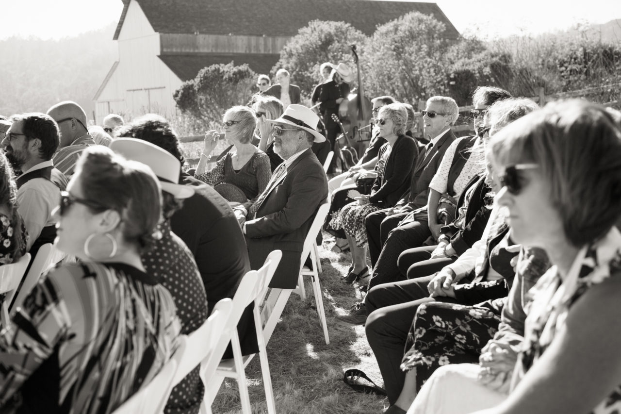 point reyes wedding black and white