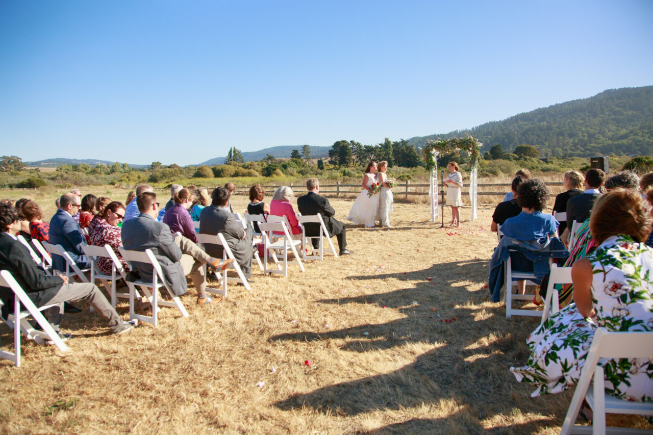 point reyes same sex Wedding