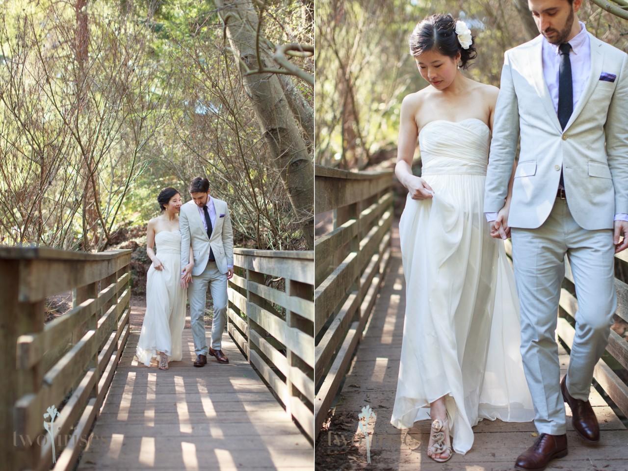 Tilden Botanic Garden Wedding Photos by Two Irises