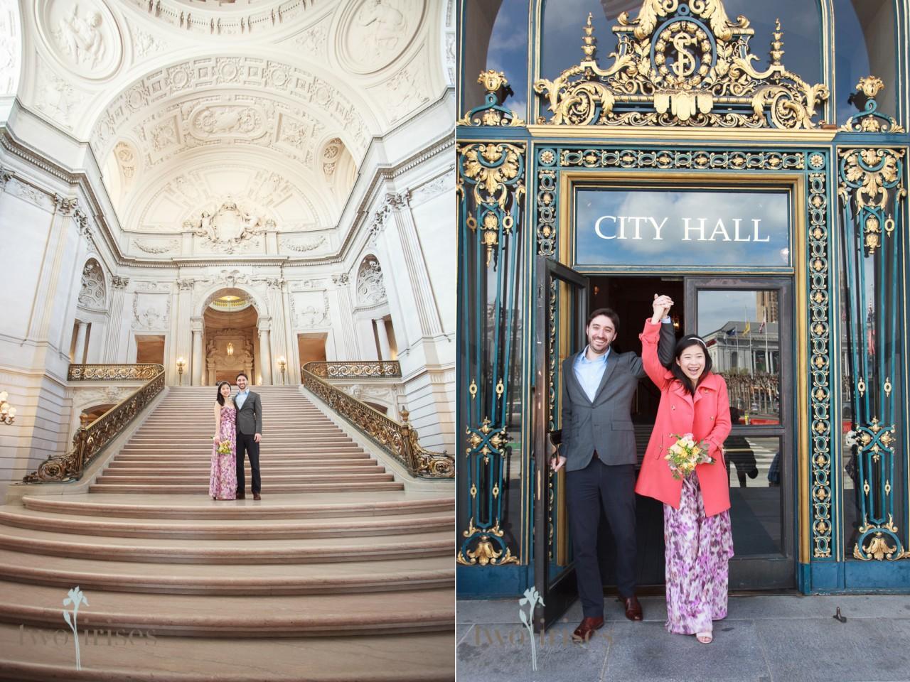 SF City Hall Wedding Photos by Two Irises
