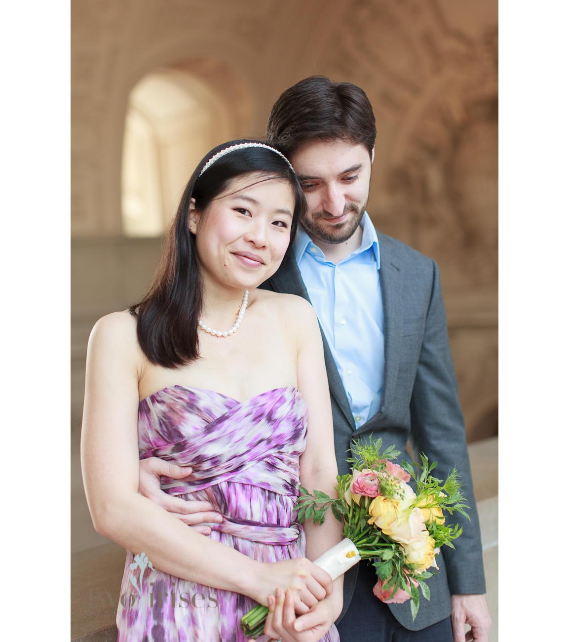 Sf City Hall Wedding Photo by Two Irises