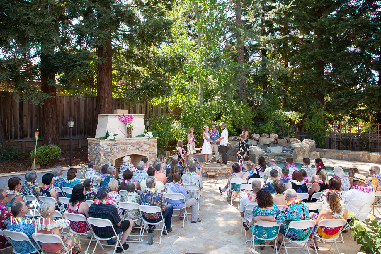 backyard luau wedding