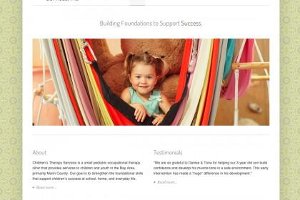 screenshot of web site Children's Therapy Services