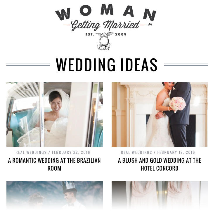 screen shot from woman getting married blog