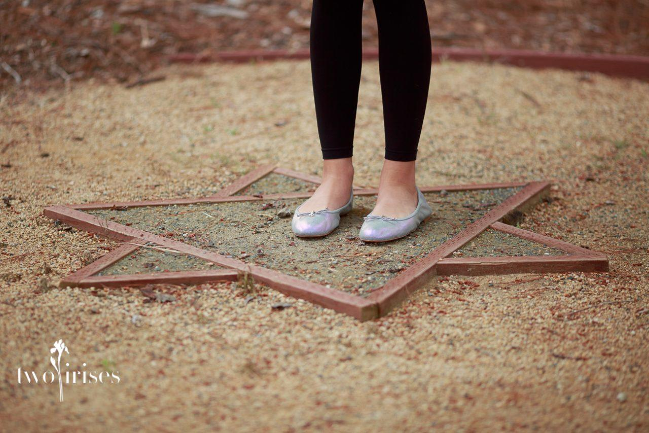 standing in a Star of David