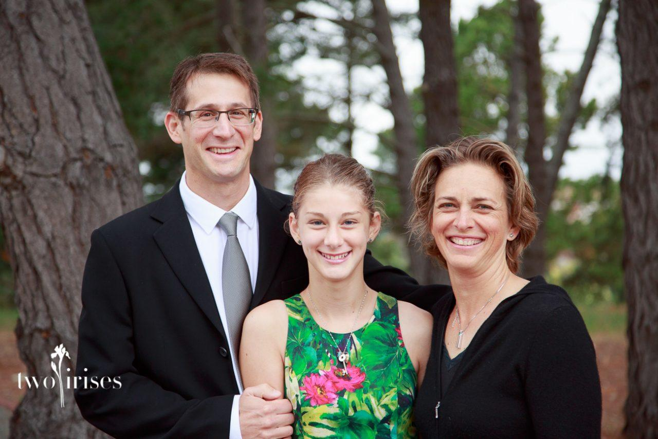 bat mitzvah family portrait