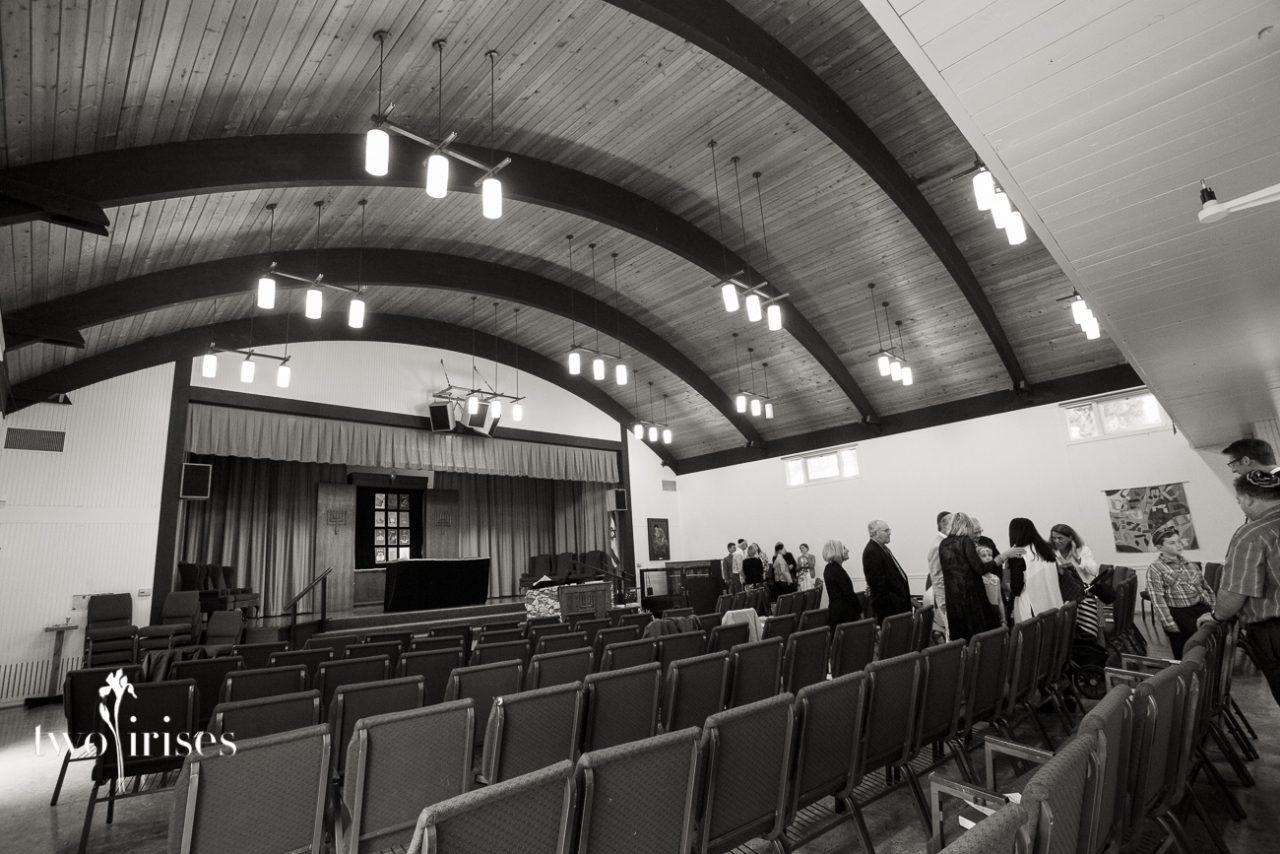 Temple Beth Hillel, black and white photo