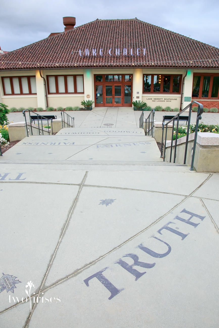 Lake Chalet, Oakland - front walk reads TRUTH