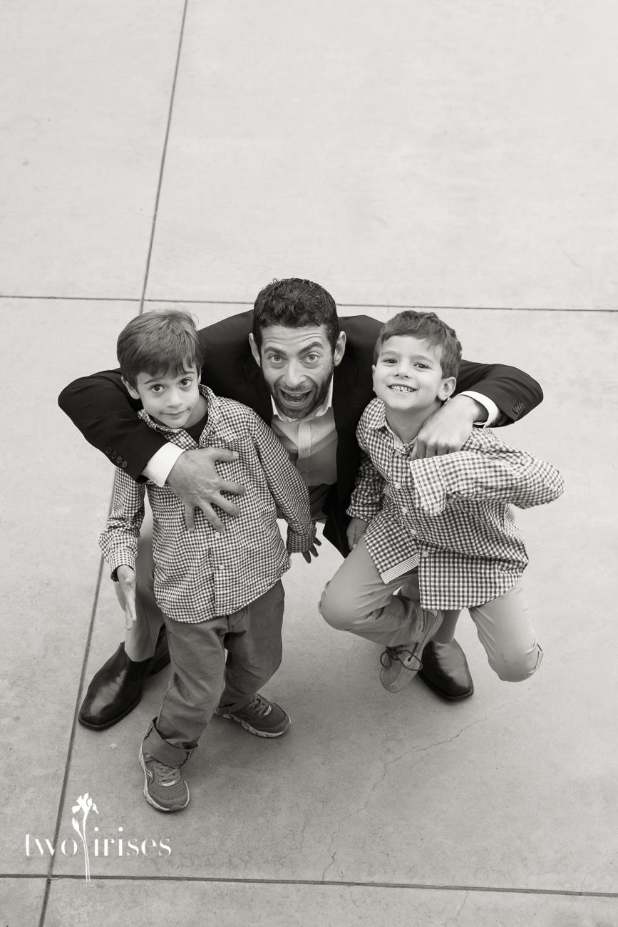 dad and sons
