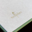 Asian Rice paper as custom end paper in Leather Craftsmen album