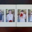 wedding album layout, Leather Craftsmen, Two Irises