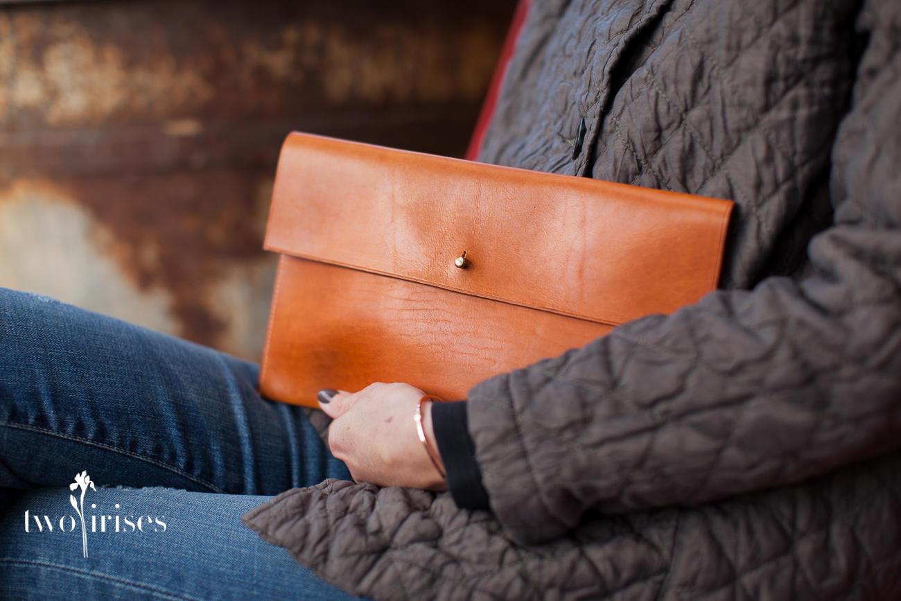 Pennyroyal Design leather envelope clutch