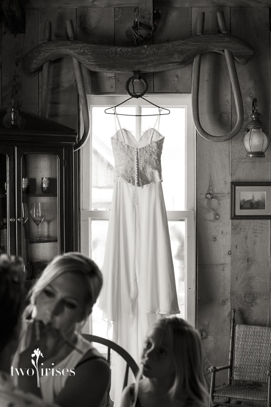 wedding at Cow Track Ranch, wedding dress