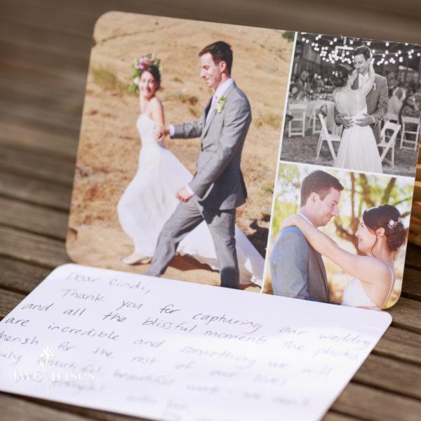 cow track ranch wedding thank you card
