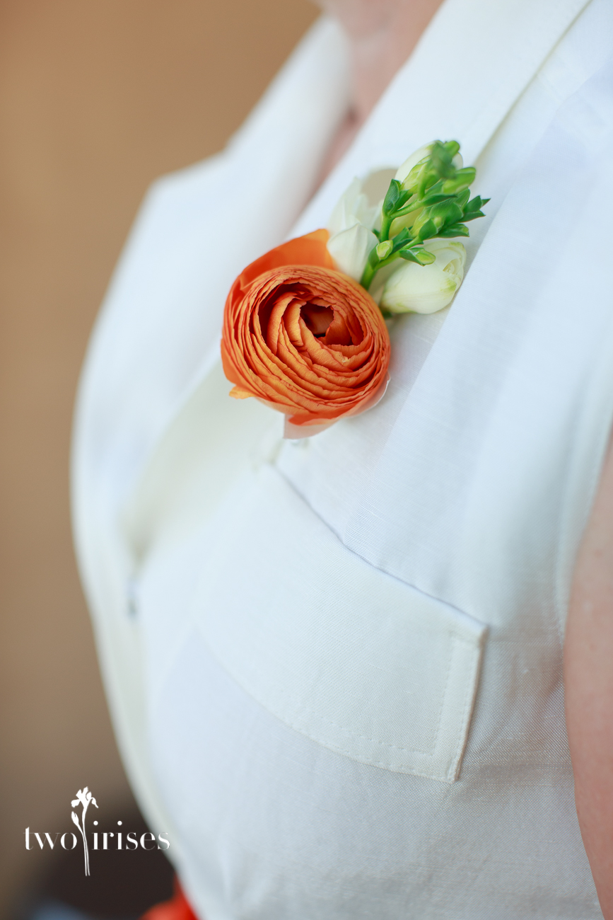 EV Floral wedding corsage