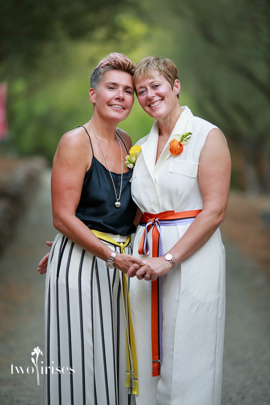 same sex wedding at auberge du soleil