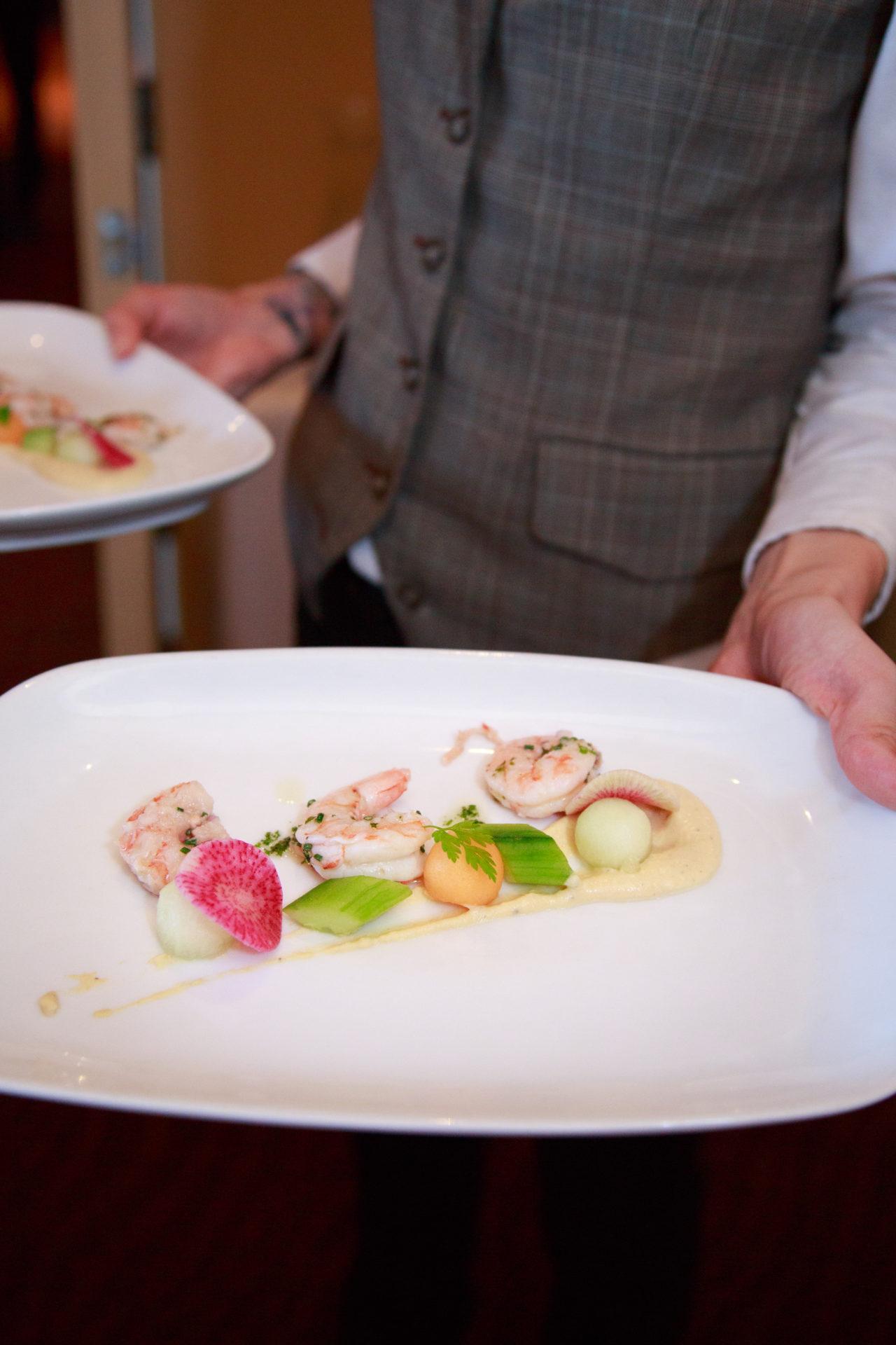 Auberge du Soleil wedding cuisine